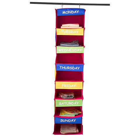 Home it 7-Shelf Portable Hanging Daily Activity Organizer for Kids