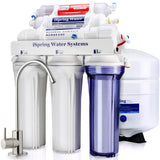 ISPRING 6-Stage High Capacity Under Under Sink Reverse Osmosis Drinking Water Filter System with Alkaline Remineralization