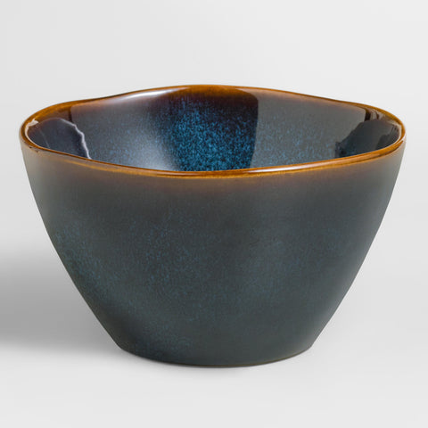 Indigo Organic Reactive Glaze Bowls, set of 2