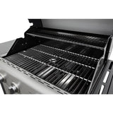 KENMORE 4-Burner plus Side Burner Propane Gas Open Cart Grill with Stainless Steel Lid and Front Panel