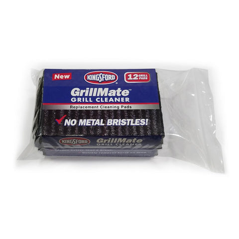 Kingsford GrillMate Refill Pads 12-Count Bristle Free Replacement Pads