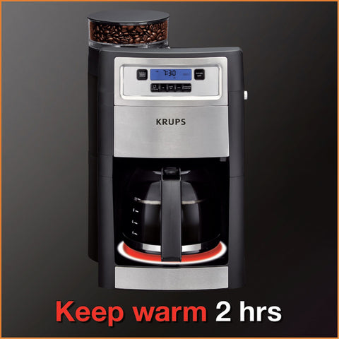 Krups Grind and Brew Coffee Maker in Black