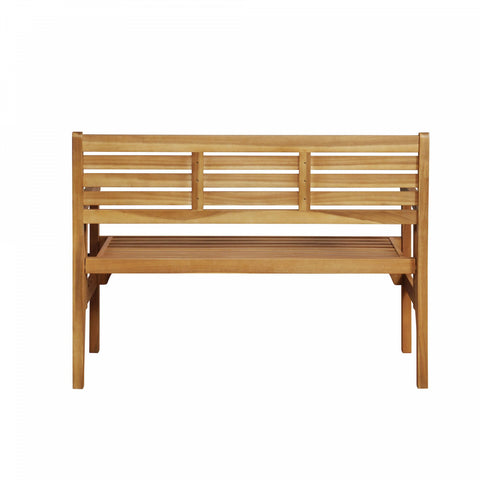 Linon Malloy Outdoor Folding Bench in Teak