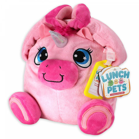 Lunch Pets Yumicorn 10-Inch Plush Animal Lunch Box