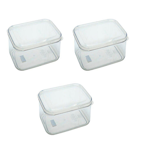 Micro Clear Polypropylene Container Set of 3