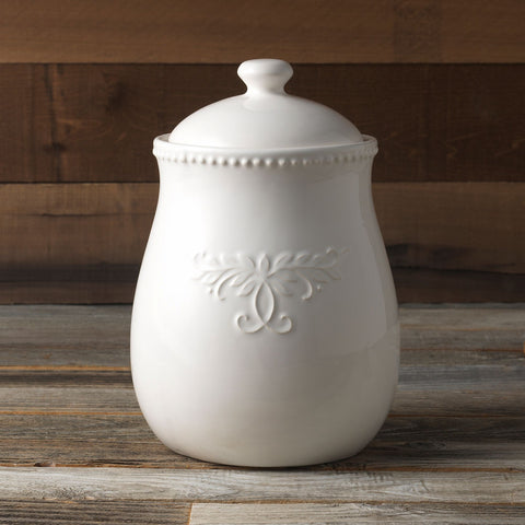 Modern Farmhouse Home 11 oz. Canister in White