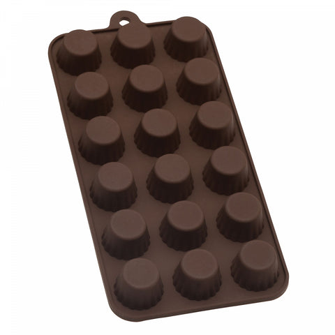 Mrs. Anderson's Baking Nonstick 10-Inch x 4.12-Inch Silicone Cordial Chocolate Mold in Brown