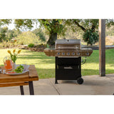 Nexgrill 5-Burner Propane Gas Grill in Stainless Steel with Side Burner and Condiment Rack