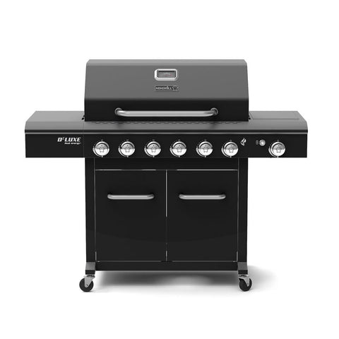 Nexgrill Deluxe 6-Burner Propane Gas Grill in Black with Side Burner