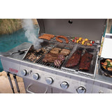 Nexgrill Evolution 5-Burner Propane Gas Grill in Stainless Steel with Side Burner and Infrared Technology