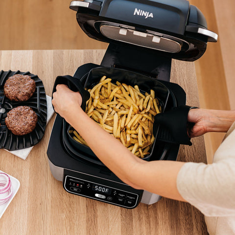 Ninja Foodi 5-in-1 Indoor Grill with Air Fryer in Black/Stainless Steel
