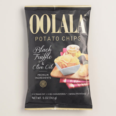 Oolala Black Truffle And Olive Oil Potato Chips Set of 9