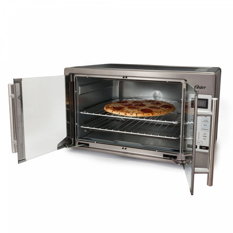 Oster Stainless Steel Digital French Door Oven in Black Stainless