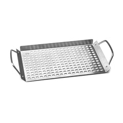 Outset 11 in. x 7 in. Stainless Steel Grill Topper Grid