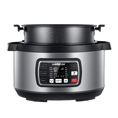 Ovate 9.5 Qt. Stainless Steel Oval Electric Pressure Cooker with 6-Accessories and 50-Recipes