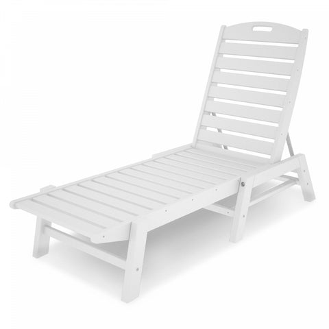 POLYWOOD Nautical Stackable Chaise