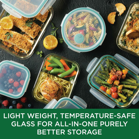 Purely Better Glass Rectangular Food Storage Container 34-Ounce