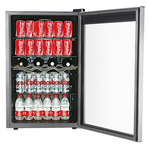 RCA Single Zone 22 in. 4-Bottle or 110 (12 oz.) Can Beverage Wine Center