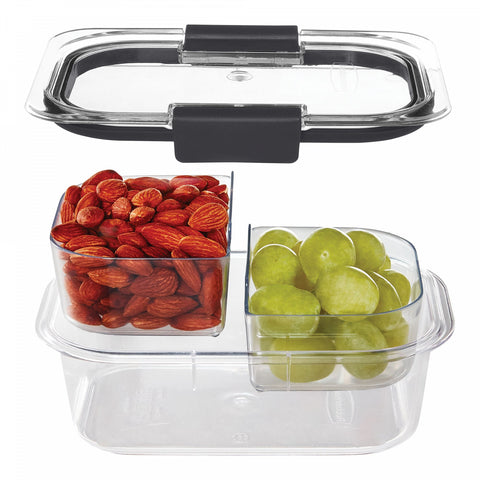 Rubbermaid Brilliance 3-Cup Snack Food Storage Container