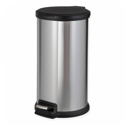SALT Stainless Steel Round 40-Liter Step Trash Can