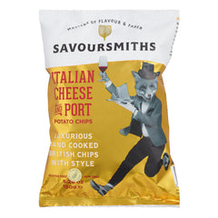Savoursmiths Italian Cheese And Port Potato Chips Set of 12