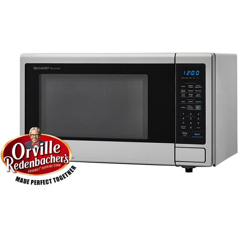 Sharp Carousel 1.4 cu. ft. 1000W Countertop Microwave Oven in Stainless Steel (ISTA 6 Packaging)