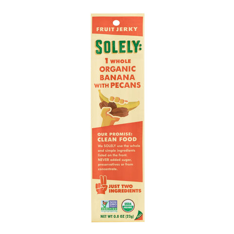 Solely Organic Banana with Pecans Fruit Jerky Set of 12