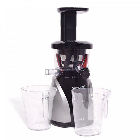 Tribest Slowstar Vertical Slow Juicer and Mincer in Black/Silver