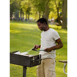 Ultra Play Charcoal Commercial Park Grill with Post in Black