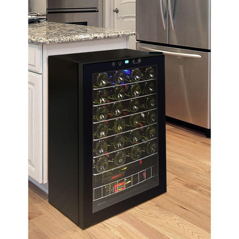 VINOTEMP 21.25 in. 48-Bottle Touch Screen Wine Cooler