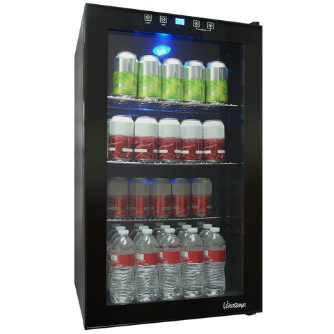 Vinotemp Touch Screen 19 in. 80 (12 oz.) Can Beverage Cooler