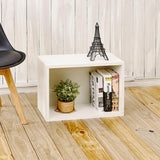 Way Basics Eco Stackable zBoard 11.2 in. x 22.8 in. x 15.5 in. Tool-Free Assembly Rectangle Cubby Shelf Unit in Pearl White