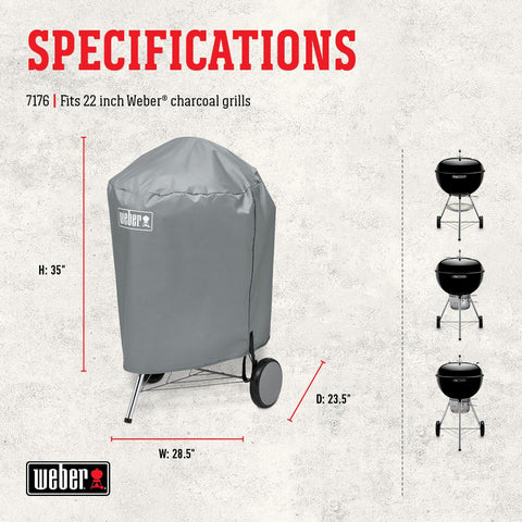 Weber 22 in. Charcoal Grill Cover