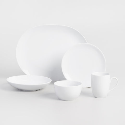 White Coupe Cereal Bowls, set of 4
