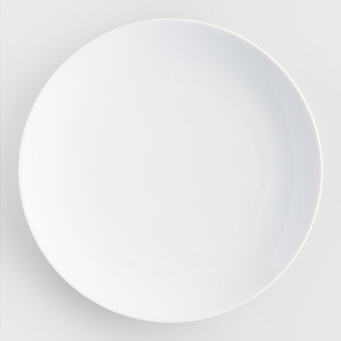 White Coupe Dinner Plates, set of 4