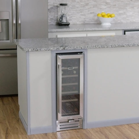 Whynter 18-Bottle Built-In Wine Refrigerator in Stainless Steel