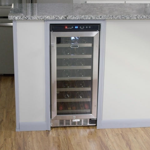 Whynter 33-Bottle Built-In Wine Refrigerator in Stainless Steel