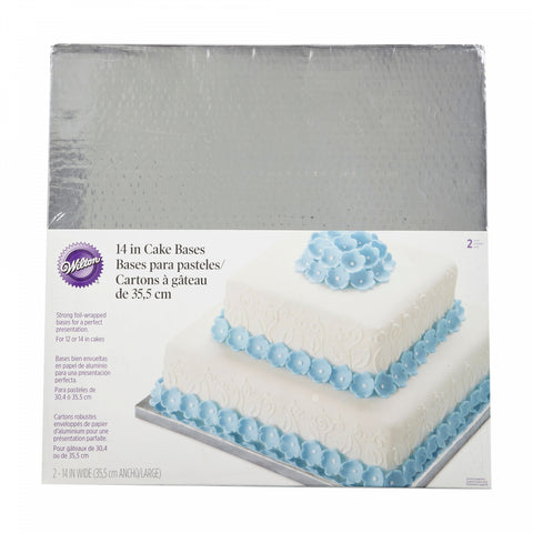 Wilton 14-Inch Square Cake Platters (Set of 2)