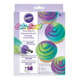 Wilton Color Swirl 9-Piece Tri-Color Coupler Decorating Set