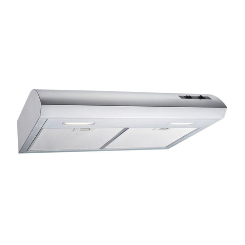 Winflo 30 in. 350 CFM Convertible Under Cabinet Range Hood in Stainless Steel with Mesh, Charcoal Filters and Touch Controls