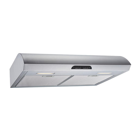 Winflo 30 in. 480 CFM Convertible Under Cabinet Range Hood in Stainless Steel with Mesh Filters and Touch Sensor Controls