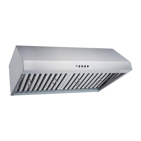 Winflo 30 in. Convertible 480 CFM Under Cabinet Range Hood in Stainless Steel with Baffle, Charcoal Filters