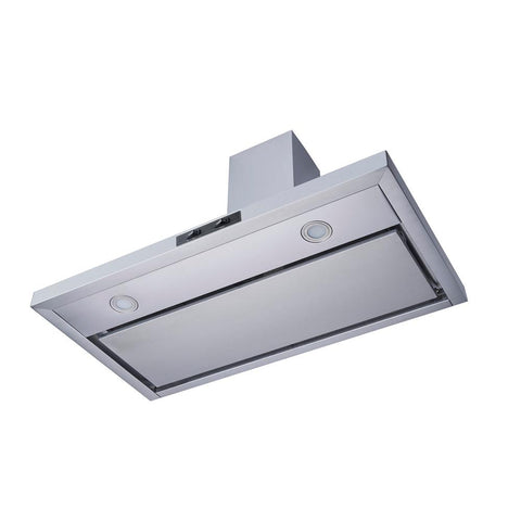 Winflo 36 in. Convertible Wall Mount Range Hood in Stainless Steel with Mesh Filter and Stainless Steel Panel