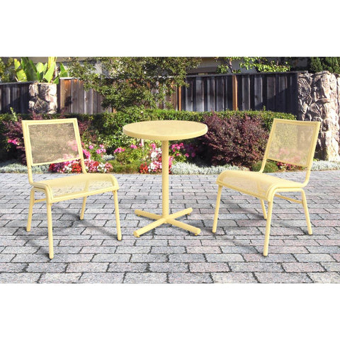 Yellow 3-Piece Metal Bixby Outdoor Bistro Set