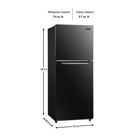 Magic Chef 10.1 cu. ft. Top Freezer Refrigerator White, Black or Steel