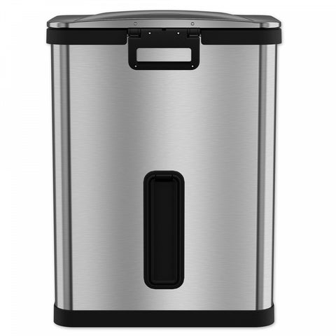 halo AirStep Feather-Light 49-Liter Step Trash Can in Brushed Stainless Steel