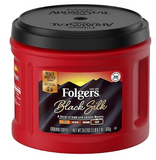 Folgers Black Silk Ground Coffee, Dark Roast (02054)