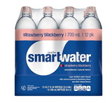 Glaceau Smartwater Flavored Water, 23.7 Oz., 12/Pack (157196)