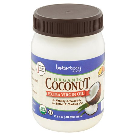 Betterbody Foods Organic Coconut Extra Virgin Oil, 15.5 fl oz, 6 pack