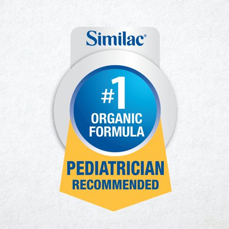 Similac Organic Non-GMO Baby Formula, 6 Count Powder, 1.45-lb Tub